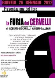 """PRESENTAZIONE DEL LIBRO """"La Furia dei Cervelli"""" – GIOVEDI 26 GENNAIO 2012"""