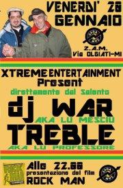 VENERDI' 20 GENNAIO 2012 – Zaga Zam Smoking Yard – Dj War + Treble