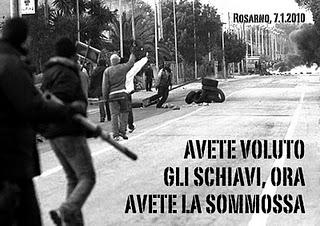 Rosarno, 7.01.2010 – 7.01.2012. Volevano schiavi, hanno trovato uomini degni.