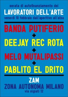 Lavoratori dell'Arte Benefit Night! Zam – Venerdì 10 2012