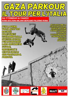 GAZA PARKOUR In Tour per l'Italia