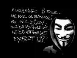 Solidarietà ad Anonymous! Paladini della libera informazione.