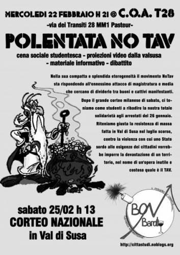 22-02-2012 ore 21.00 – Polentata NoTav