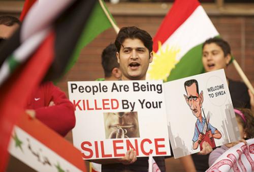 Siria, parola a un blogger