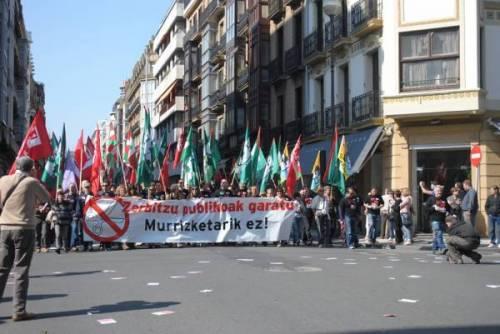 Sciopero generale in Spagna:Greba borroka, Donostia, 29M (Euskal Herria)