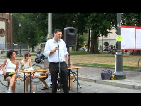 Condanne G8 Genova: Interventi VIDEO di Mirko Mazzali e di Renato Sarti dal presidio in piazza Sant'Eustorgio