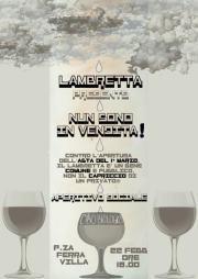 Aperitivo al Lambretta verso l'asta. Non siamo in vendita!