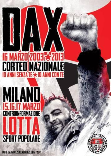 Dax, la storia. 15, 16, 17 marzo, appuntamento a Milano
