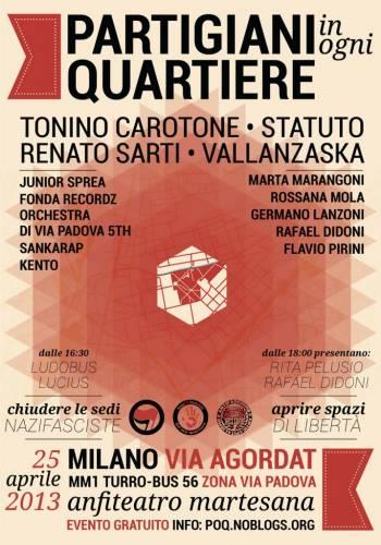 Partigiani in Ogni Quartiere arriva in Via Padova!