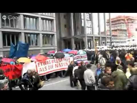 No BCE, diretta dal corteo