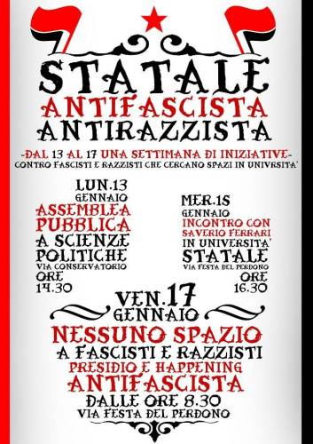 Statale antifascista e antirazzista, un primo successo!