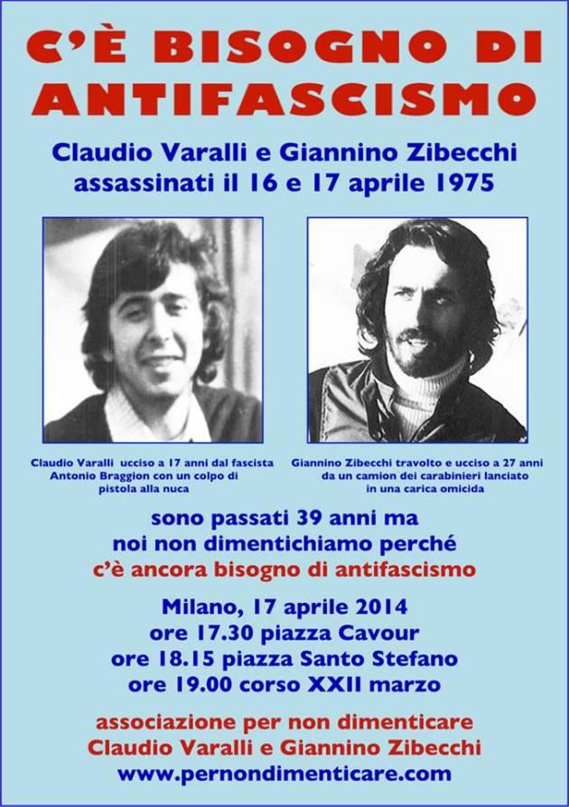 Claudio Varalli e Giannino Zibecchi, le giornate d'Aprile del 1975