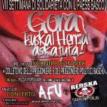 VIII Settimana di Solidarietà con Euskal Herria – 4 Aprile/13 Aprile