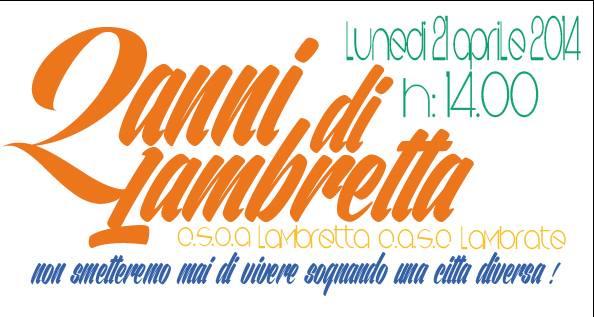Buon compleanno Lambretta!