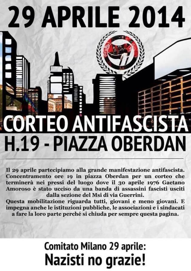 [DallaRete] Nazisti no grazie! – Il 29 aprile gli antifascisti e le antifasciste milanesi saranno in piazza