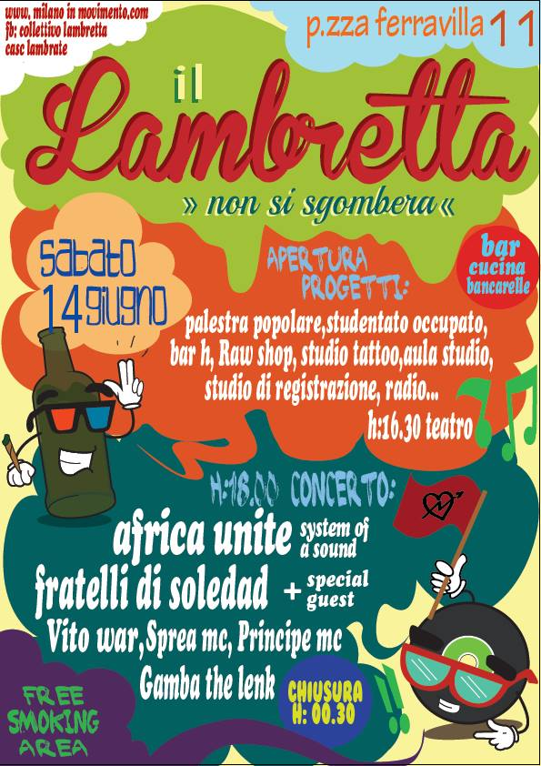 [News] Concerto anti-sgombero Lambretta spostato @ ZAM!