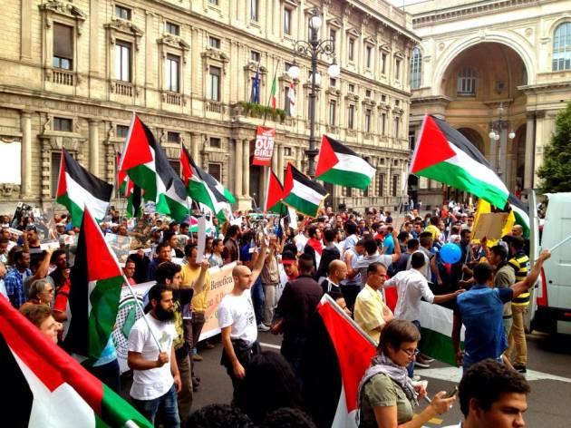 Milano, corteo per la Palestina