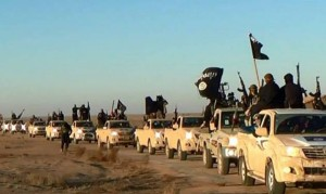 Isis fighters, pictured on a militant website verified by AP.