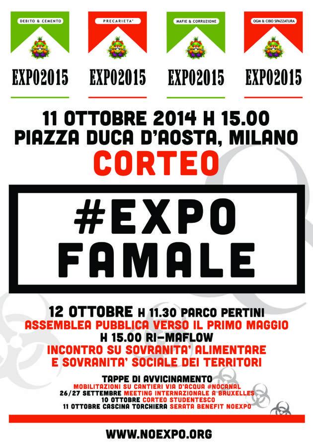 #11O H15 TUTT@ MILANO – #EXPOFAMALE – CORTEO #NOEXPO