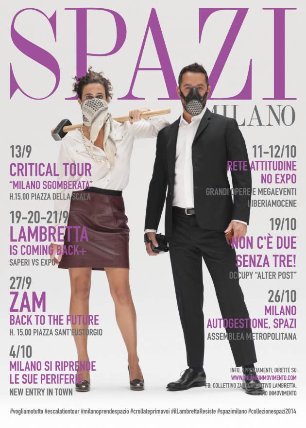 MILANO, COLLEZIONE SPAZI AUTUNNO/INVERNO 2014—-JUST OCCUPY!!!