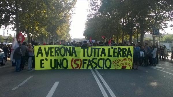 [DallaRete] Grande successo per il 25 Ottobre antifascista a Verona