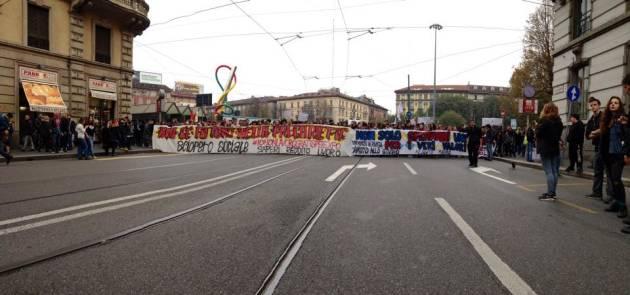 Sciopero sociale Milano – la diretta (foto e video)