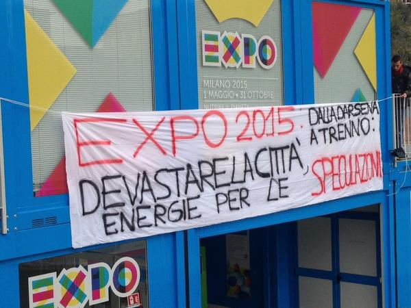 Expo2015: dalla Darsena a Trenno: devastare le città, energia per le speculazioni