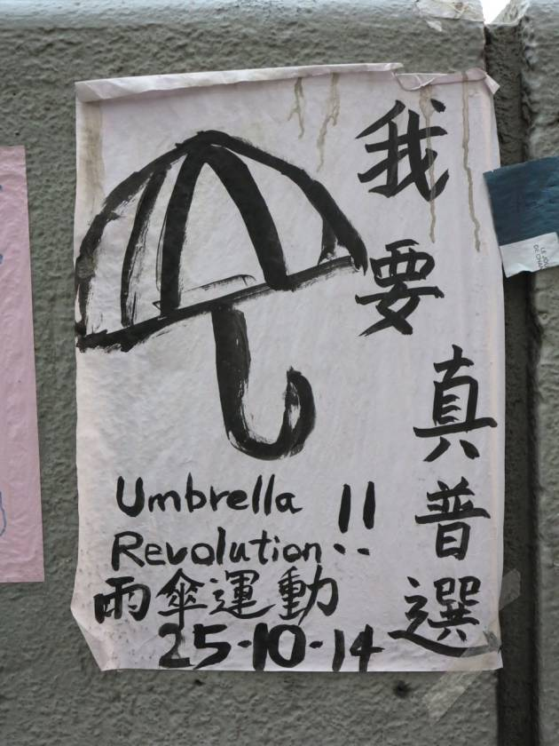 Umbrella Revolution – Terzo mese di presidio