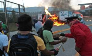 Protests in Guerrero state for missing presumed killed students