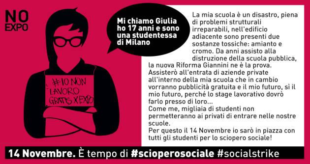 [DallaRete] Venerdì 14N si sciopera contro Jobs Act e precarietà. A Milano in piazza Fiom, sindacati di base e studenti