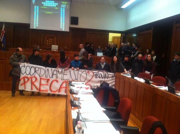 [News] Precari della Provincia di Milano in azione!