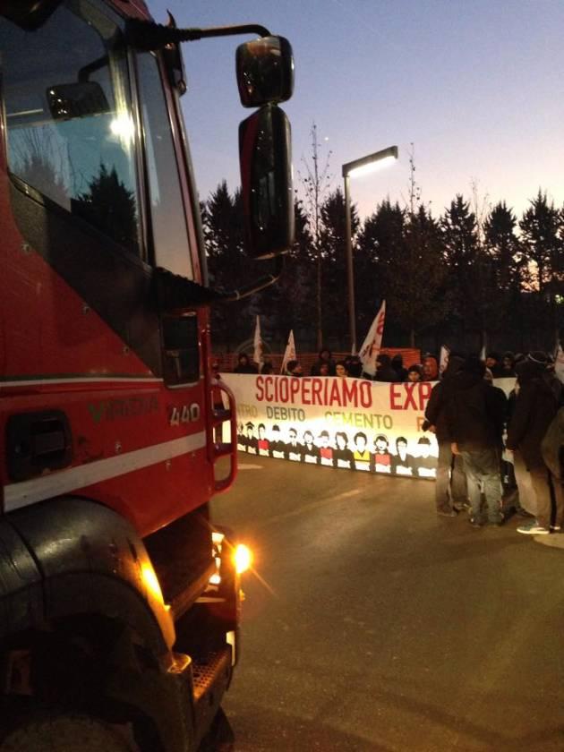 12/12 Sciopero sociale, bloccati i cantieri di Expo! (foto e video)