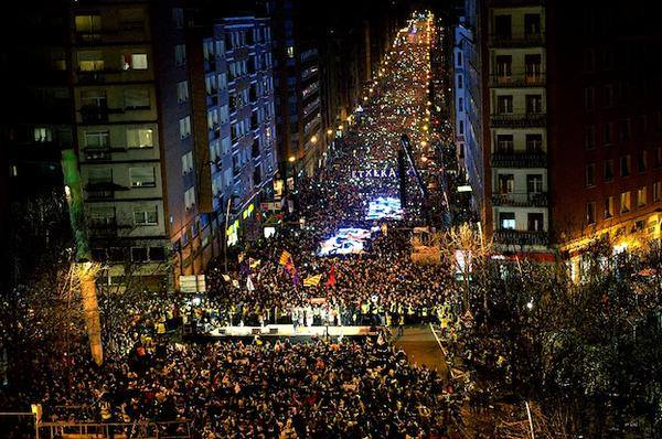 [DallaRete] Paesi Baschi: manifestazione per i diritti dei prigionieri politici