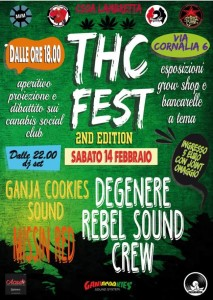 Thc Fest - 2nd Edition: We Love Weed @ Lambretta