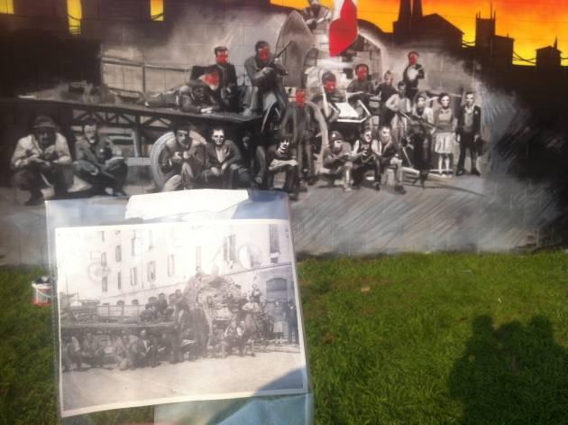 La memoria non si cancella: rifatto il murales antifascista a Niguarda!