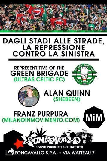 Tifare antifascismo: i sostenitori del Celtic Glasgow rifiutano il Limelight