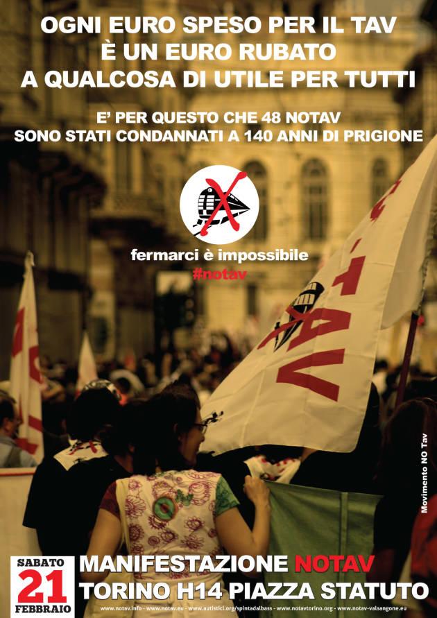 [DallaRete] Sabato 21 Febbraio manifestazione popolare NoTav a Torino (appello)
