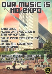 28/3/15 - OUR MUSIC IS NO EXPO / HipHop / Techno