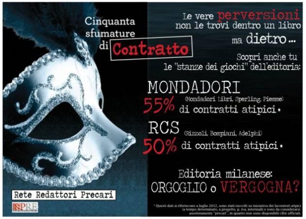 [DallaRete] 50 Sfumature di Precarietà: Mondadori e Rizzoli si fondono, ma i precari vanno assunti