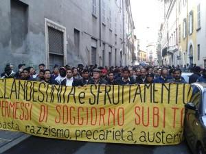 [DallaRete] Brescia: sgomberato il presidio permanente, in mille al corteo di risposta