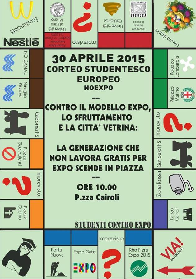 #30A || Corteo studentesco internazionale NoExpo – International student demonstration against Expo