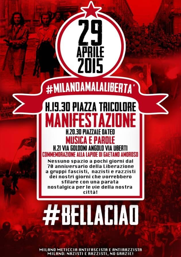 [DallaRete] 29 Aprile manifestazione antifascista h. 19.30 in piazza Tricolore