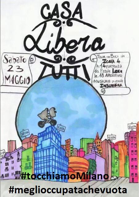 CASA LIBERA TUTT*! Sabato 23 Critical Tour in zona4