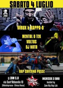 4/7 Virux, Kappa-o, Mental D Tek, Voltus, Dj Nata & Rap Caverna Posse @ ZAM