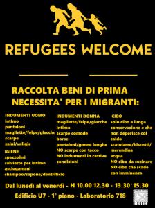 UNIMIB - Raccolta di beni di prima necessità per i profughi in fuga da guerre e dittature @ Università degli Studi di Milano Bicocca