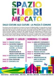 Spazio fuori mercato - Dalle colture alle culture: la piazza è comune! @ Milano
