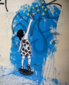 Arte di strada ad Atene