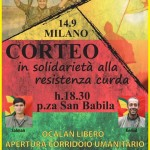 [DallaRete] Rompere il silenzio, fermare la guerra di Erdogan contro i curdi – Corteo, lunedì 14S h. 18.30 @SanBabila Milano