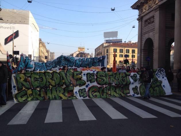 """""""Ricordare le stragi di ieri, fermare le guerre di oggi"""" – Studenti in corteo per Piazza Fontana"""