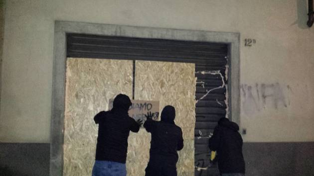 [DallaRete] Bergamo – Azione contro la sede di Forza Nuova